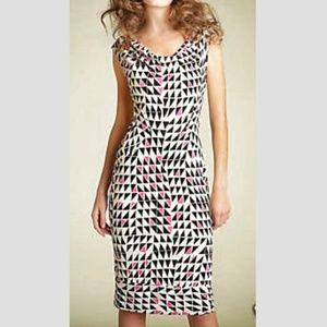 NWOT Diane Von Furstenberg Dress Black Pink